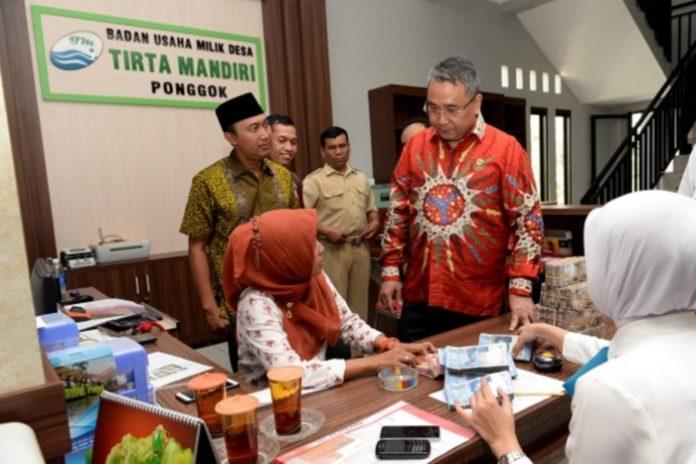 BUMDes Tirta Mandiri, Desa Ponggok, Kecamatan Polanharjo, Kabupaten Klaten, Provinsi Jawa Tengah, Indonesia. (Foto dipublikasi sebelum Pandemi Covid 19 untuk kebutuhan ilustrasi naskah)