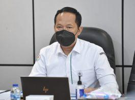 Dirjen Pembangunan Desa dan Perdesaan, Kemendesa PDTT RI, Sugito saat sosialisasi Permendes No.7 tahun 2021 di Jakarta, Indonesia. Foto : Kemendesa PDTT RI