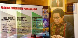 Mendesa RI, Abdul Halim Iskandar Rapat Virtual