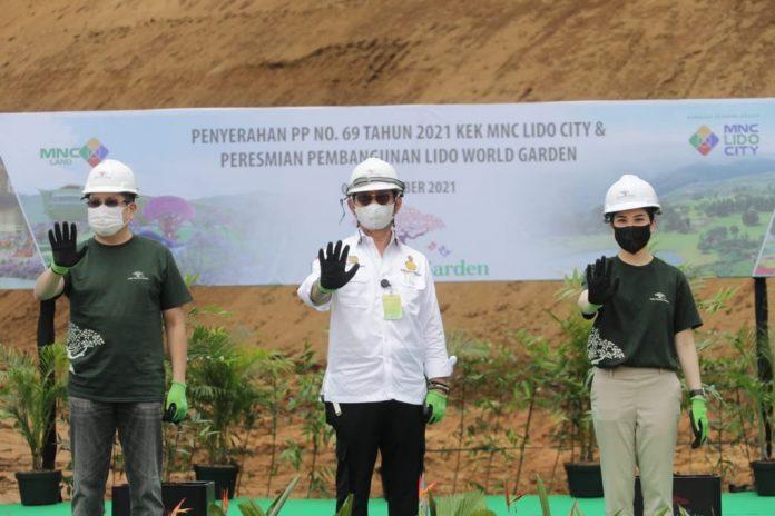 Mentan RI, Syahrul Yasin Limpo saat Peresmian Lido World Garden, Bogor, Jawa Barat, Indonesia. Foto : Kementerian Pertanian RI