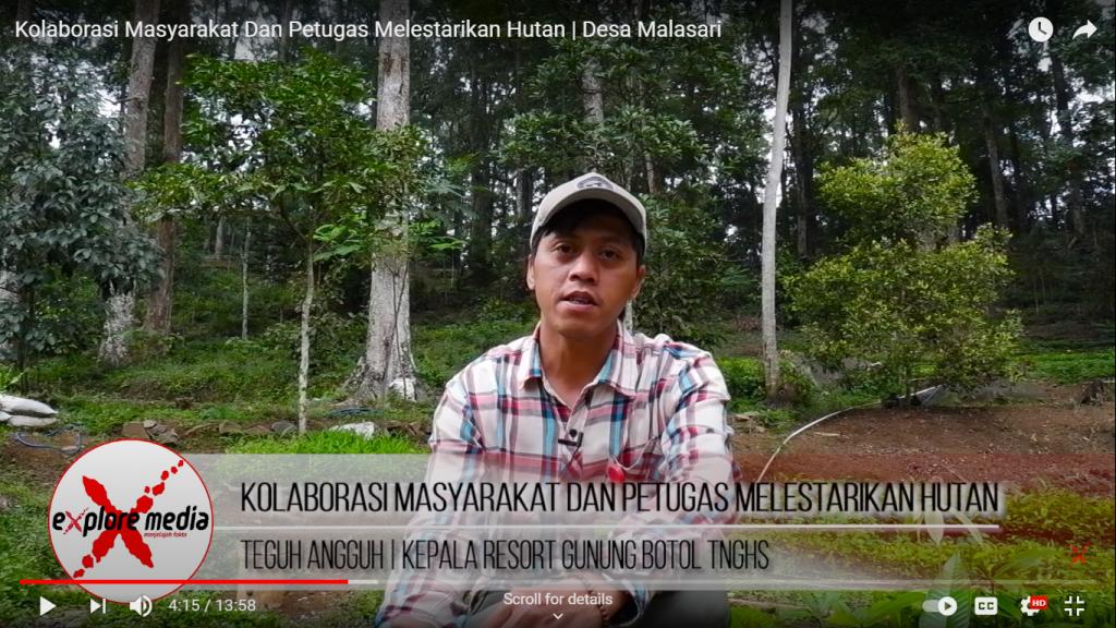 Teguh Angguh, Kepala Resort Gunung Botol, Taman Nasional Gunung Halimun Salak, Kabupaten Bogor, Jawa Barat, Indonesia. Foto : Taufik Hidayat