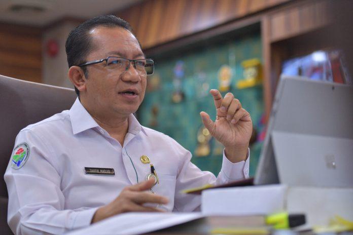Sekjen Kemendes PDTT, Taufik Madjid saat Webinar Mengorbitkan UMKM dan Desa Go Digital, Jakarta, Indonesia