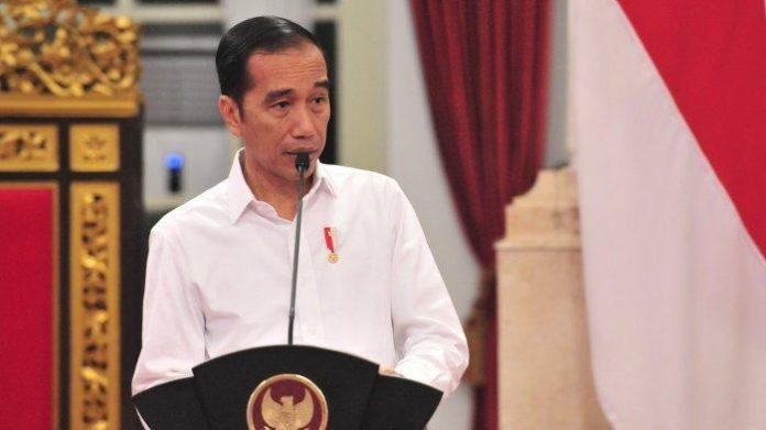 Presiden RI, Joko Widodo memberikan keterangan pers terkait pemberlakuan PPKM Level 3